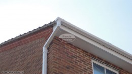 UPVC white flat soffit and square guttering