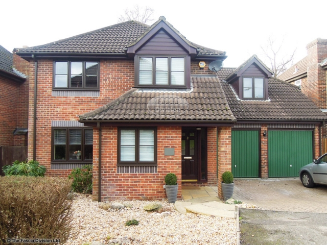 Replace fascia soffits with upvc in rosewood brown square guttering