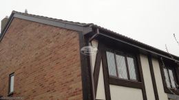 New Installation fascias soffits guttering rosewood veneer squarline guttering downpipe reading