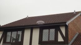 Recent installation reading new fascia board rosewood soffit guttering squareline rooftrim