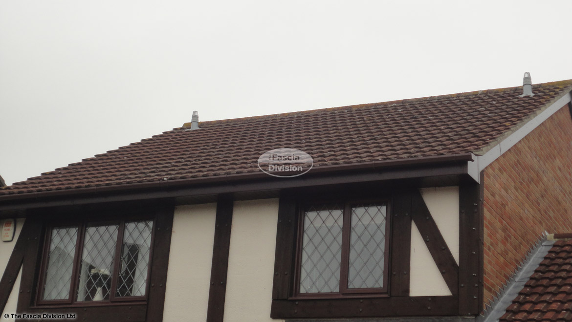 New Soffits Fascias And Guttering On A Mock Tudor House