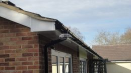 Recent installation rooftrim downpipe soffits fascia halfround guttering Reading