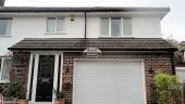 fascias soffits guttering halfround black downpipe rooftrim white