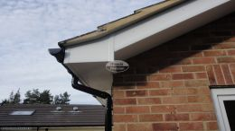 soffits black halfround guttering white plastic pvcu reading recent work downpipe installation