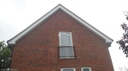 Full replacement fascias soffits with white UPVC with black gutter system at rear of property Bracknell Reading