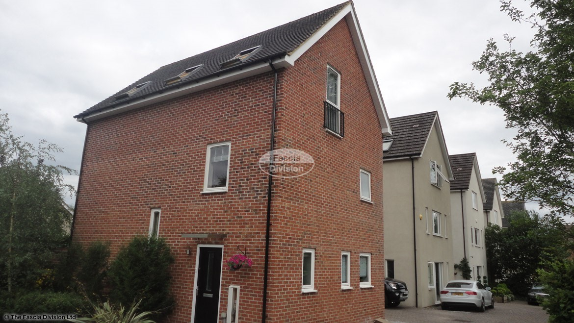 Replace the fascia, soffit and guttering on a 3 storey house