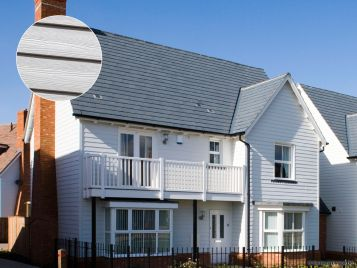 Weatherboard cladding on house