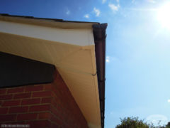 UPVC white ash fascia and soffit installation Newbury