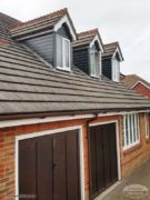 Decorative fascias and UPVC cladding on dormer windows